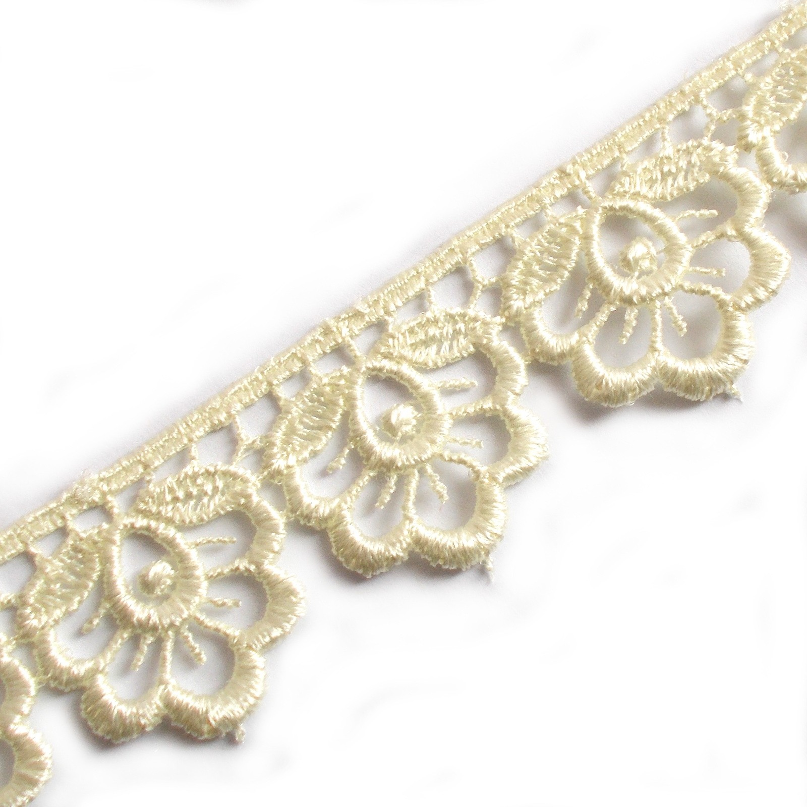 Scalloped Guipure Lace 27mm wide Cream 3 metre length