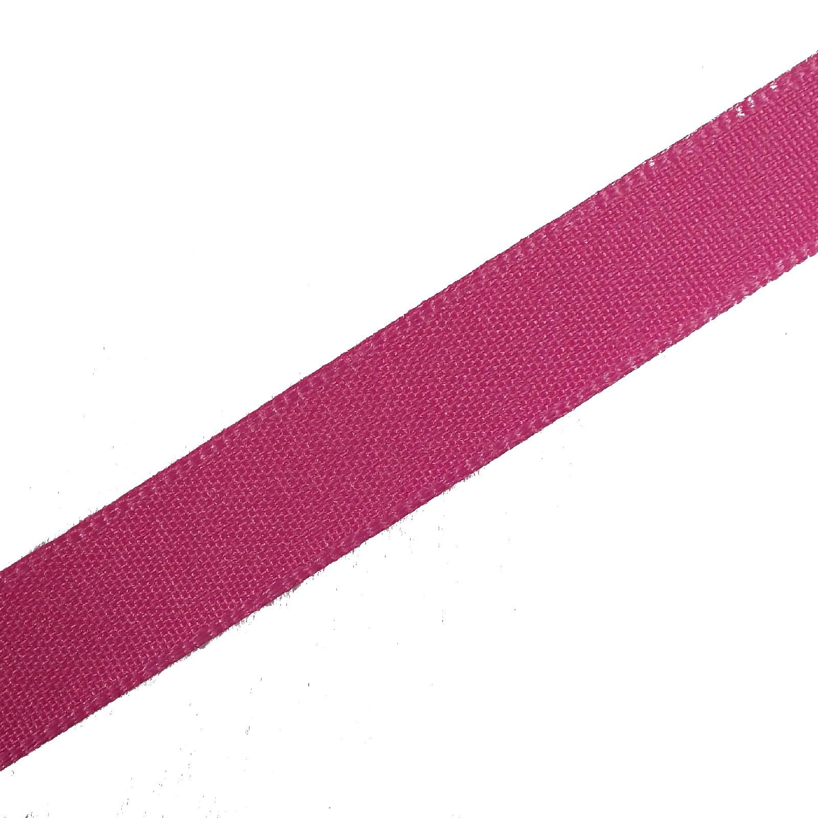 Berisfords Seam Binding Polyester Ribbon Tape 25mm wide Hot Pink 1 metre length