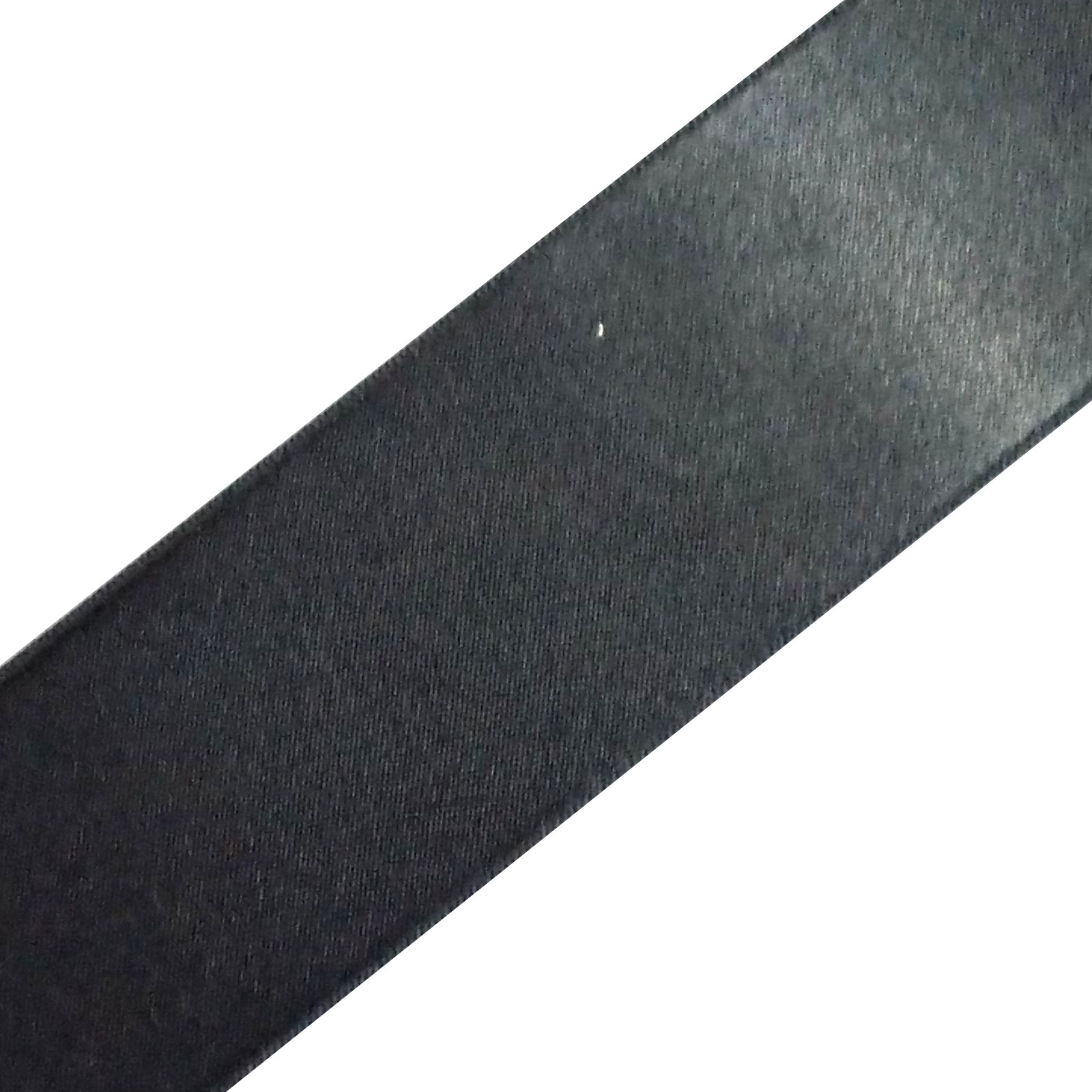 Double Satin Ribbon 6mm wide Charcoal 3 metre length