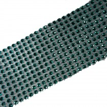12 Row Diamante Trim 6cm Wide Turquoise 1 metre length