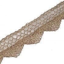 Metallic Colour Lace 2cm Wide Light Gold 2 metre length