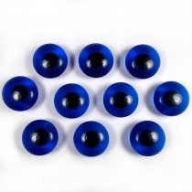 Animal Eyes Round Plastic Buttons – For Decoration Only Not for Toy Use 11mm Blue Pack of 10