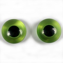 Animal Eyes Round Plastic Buttons – For Decoration Only Not for Toy Use 11mm Green Pack of 2