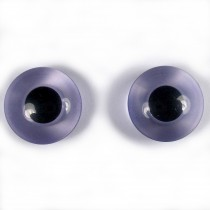 Animal Eyes Round Plastic Buttons – For Decoration Only Not for Toy Use 11mm Lilac Pack of 2