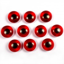Animal Eyes Round Plastic Buttons – For Decoration Only Not for Toy Use 11mm Red Pack of 10