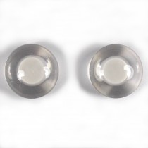 Animal Eyes Round Plastic Buttons – For Decoration Only Not for Toy Use 15mm White Pack of 2