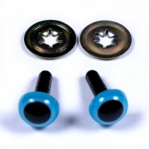 Animal Eyes for Teddy Bear Soft Toy Doll making 9mm wide Blue Pack of 2
