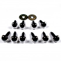 Animal Eyes for Teddy Bear Soft Toy Doll making 9mm wide Clear Pack of 10