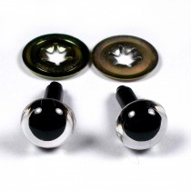 Animal Eyes for Teddy Bear Soft Toy Doll making 9mm wide Clear Pack of 2