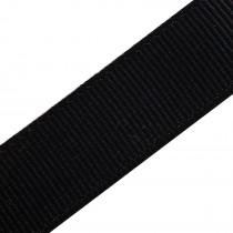 Grosgrain Plain Basic Ribbon 25mm wide Black 3 metre length