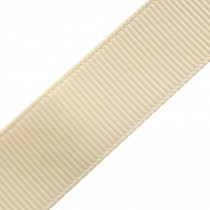 Grosgrain Plain Basic Ribbon 25mm wide Cream 3 metre length
