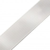Grosgrain Plain Basic Ribbon 25mm wide Ivory 3 metre length