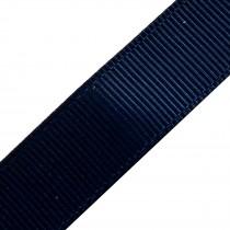 Grosgrain Plain Basic Ribbon 25mm wide Navy Blue 3 metre length