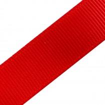 Grosgrain Plain Basic Ribbon 25mm wide Red 3 metre length