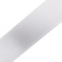 Grosgrain Plain Basic Ribbon 25mm wide White 3 metre length