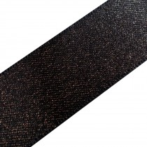 Berisfords Glitter Satin Ribbon 10mm wide Black 2 metre length