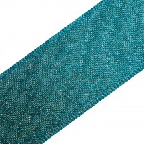 Berisfords Glitter Satin Ribbon 10mm wide Blue 1 metre length