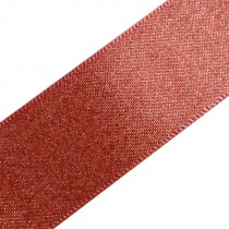 Berisfords Glitter Satin Ribbon 10mm wide Coral Pink 2 metre length