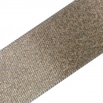 Berisfords Glitter Satin Ribbon 10mm wide Light Gold 3 metre length