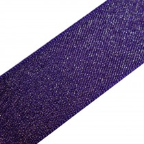 Berisfords Glitter Satin Ribbon 25mm wide Purple 2 metre length