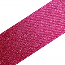 Berisfords Glitter Satin Ribbon 10mm wide Pink 1 metre length