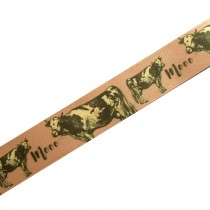 Berisfords Animal Satin Ribbon 25mm wide Cow 1 metre length
