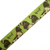 Berisfords Animal Satin Ribbon 25mm wide Dog 2 metre length