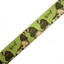 Berisfords Animal Satin Ribbon 25mm wide Dog 3 metre length