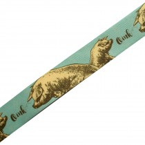 Berisfords Animal Satin Ribbon 25mm wide Pig 2 metre length