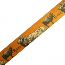 Berisfords Animal Satin Ribbon 25mm wide Sheep 1 metre length