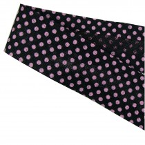 Bias Binding Patterned Cotton 25mm wide Black with Pink Polka Dots 1 metre length