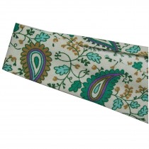Bias Binding Patterned Cotton 25mm wide Green Paisley 1 metre length