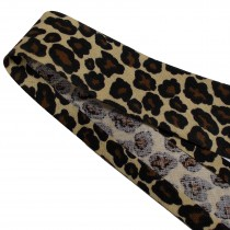 Bias Binding Patterned Cotton 25mm wide Leopard Print 1 metre length