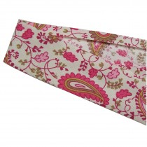 Bias Binding Patterned Cotton 25mm wide Pink Paisley 1 metre length