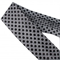 Bias Binding Patterned Cotton 25mm White with Black Polka Dots 1 metre length