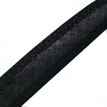 Bias Binding Plain 25mm wide Black 1 metre length