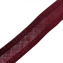 Bias Binding Plain 25mm wide Burgundy 2 metre length