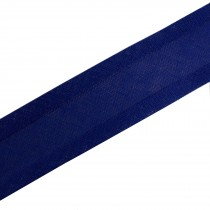 Bias Binding Plain 16mm wide Dark Blue 1 metre length
