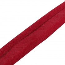 Bias Binding Plain 25mm wide Red 1 metre length