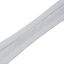Bias Binding Plain 16mm wide White 1 metre length