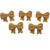Bow Shape Buttons 16mm x 12mm Butterscotch Pack of 5