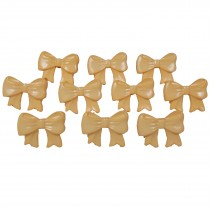 Bow Shape Buttons 16mm x 12mm Butterscotch Pack of 10