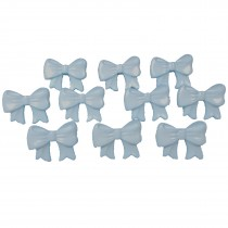 Bow Shape Buttons 16mm x 12mm Pale Blue Pack of 10