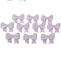 Bow Shape Buttons 16mm x 12mm Pale Pink Pack of 10