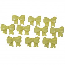 Bow Shape Buttons 16mm x 12mm Yellow Pack of 10