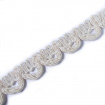 Button Looping 11mm Wide Non Elastic Cream Cotton 1 metre length