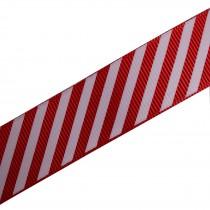 Candy Stripe Grosgrain Ribbon 9mm wide Red 1 metre length