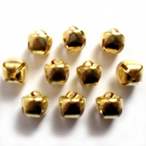 Cat Bells Sleigh Jingle Bells 10mm Gold Pack of 10