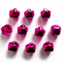 Cat Bells Sleigh Jingle Bells 12mm Pink Pack of 10