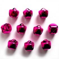 Cat Bells Sleigh Jingle Bells 15mm Pink Pack of 10
